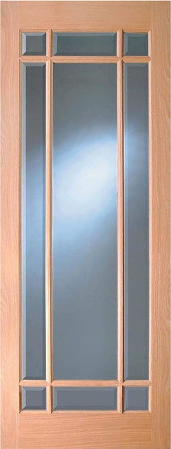 Indoors Merville Oak Bevel Glazed Door Pre-Fin 78X30