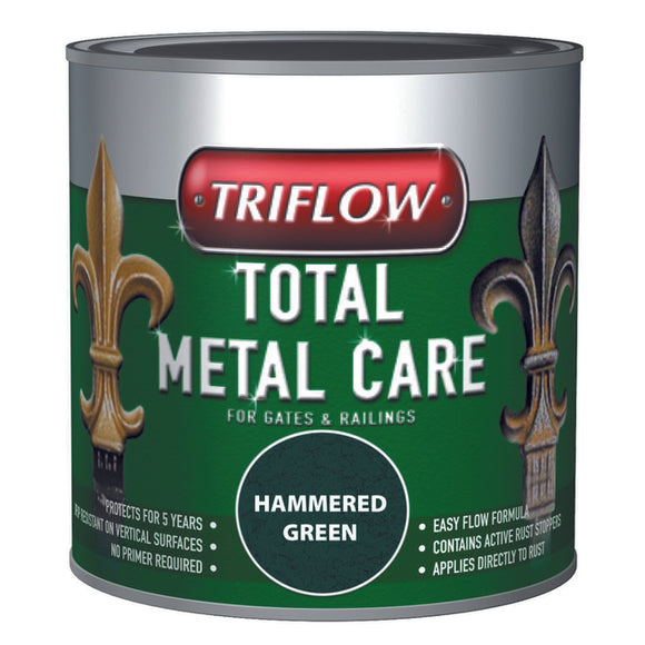 Triflow Metal Care For Gates & Railings 500ml Green Hammered