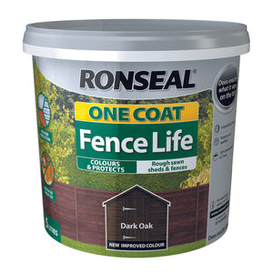 One Coat Fence Life 5L Dark Oak