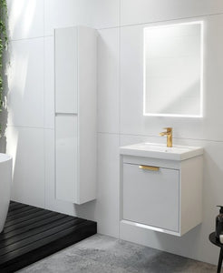 Fjord 50 Vanity Unit & Basin with brushed gold handle