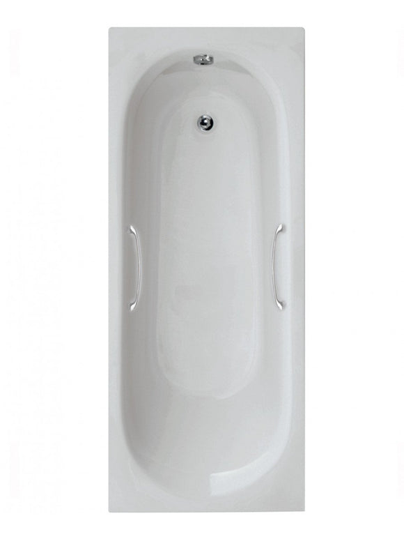 Lotus Single Ended Bath with Twin Grips White 1700 x 700mm