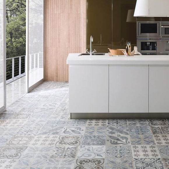 Porcelanosa Antique Acero Floor Tile
