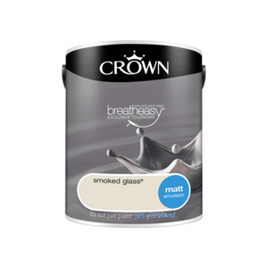 Crown Matt Emulsion Paint Smoked Glass