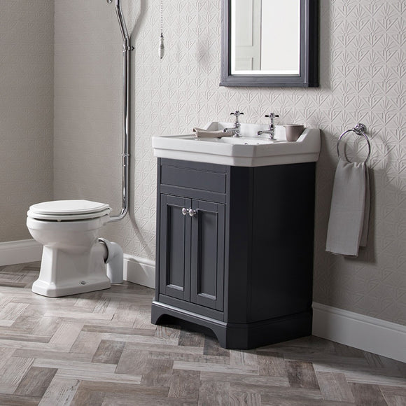 Vitoria 600mm Vanity & Basin Dark Grey