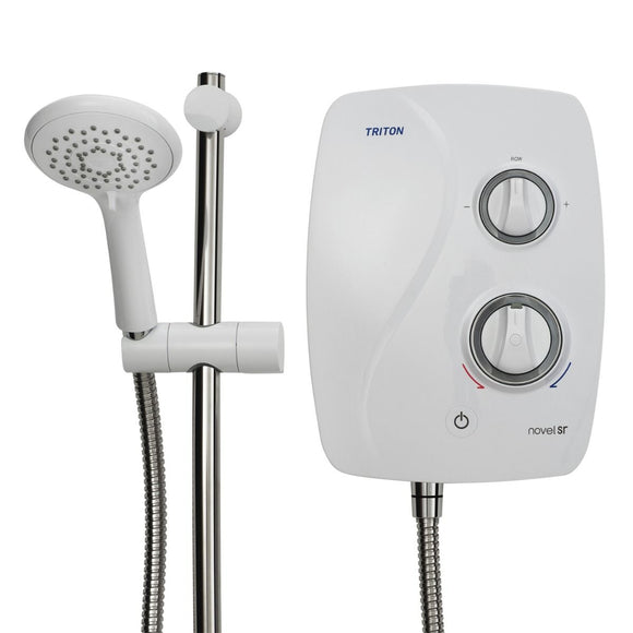 Triton Novel Silent Run Thermostatic Power Shower