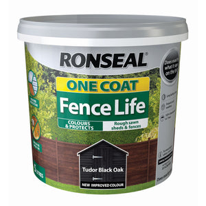 Ronseal One Coat Fence Life 5 Litre Tudor Black