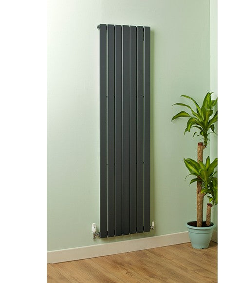 Valerie Flat Panel Radiator Single Anthracite 2000