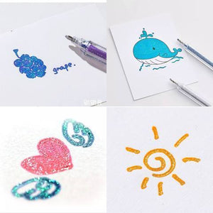 Load image into Gallery viewer, Colorful Glittery Gel Pen
