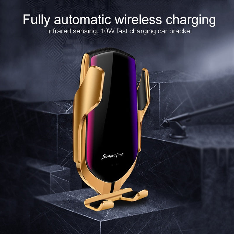 Load image into Gallery viewer, Automatic Clamping 10W Wireless Holder Type Car Charger (Fast Charger Version)