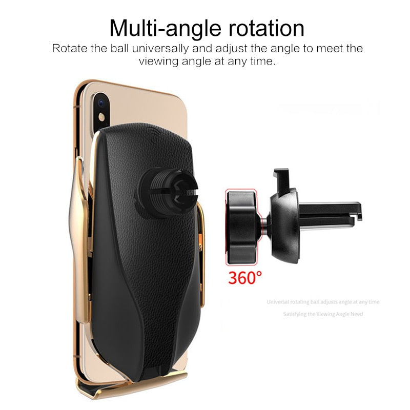 Automatic Clamping 10W Wireless Holder Type Car Charger (Fast Charger Version)
