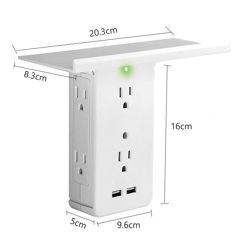 USB Charging Ports & Removable Socket Shelf