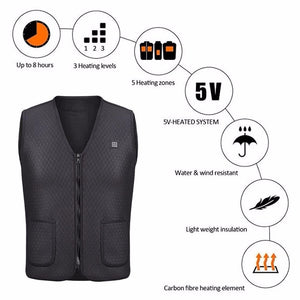 Heated Rechargeable Vest Gen 2.0 (Unisex)
