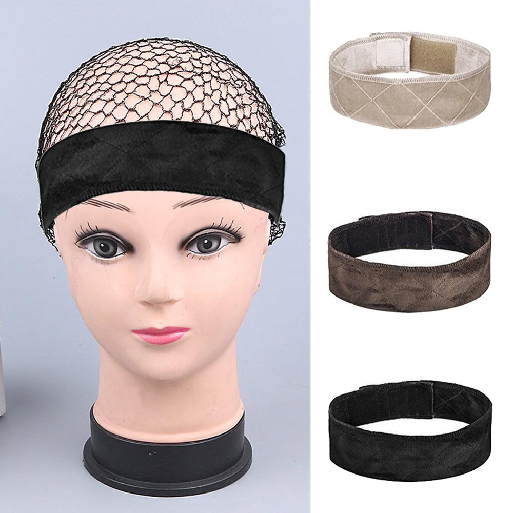 Flexible Velvet Adjustable Wig Grip Headband
