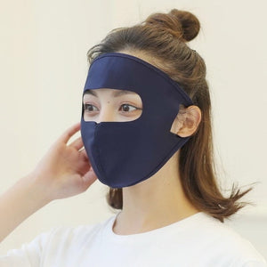 Ice Silk Full Face Sunscreen Mask