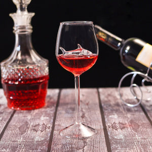 Load image into Gallery viewer, Shark Red Wine Goblet/Glass [4pcs]
