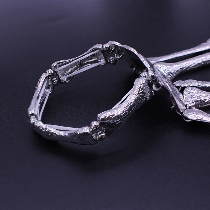 Load image into Gallery viewer, Hand Skull Skeleton Bracelet