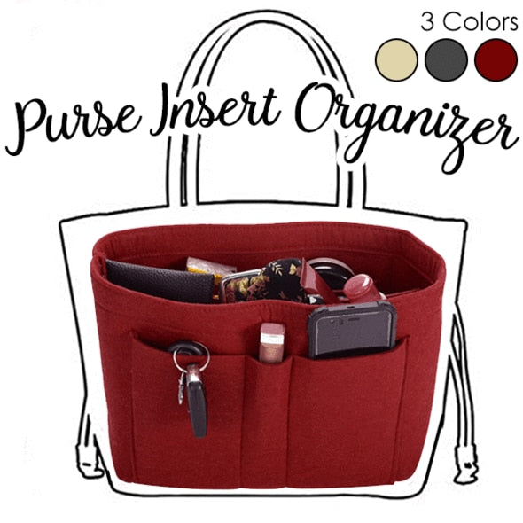 Load image into Gallery viewer, Felt Handbag Instert Organizer