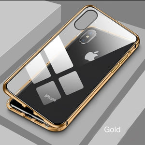 Privacy Tempered Glass Magnetic Iphone Case