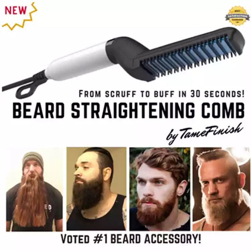Multifunctional Hair Comb Beard Straightener