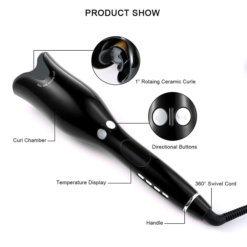 Automatic Curling Iron Magic Hair Curler Wand