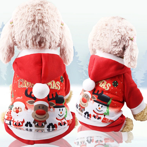 Load image into Gallery viewer, Christmas Dog Coat (Santa Design)