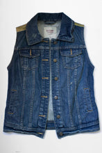 Load image into Gallery viewer, Aeternal Snakehead Girl III Denim Vest