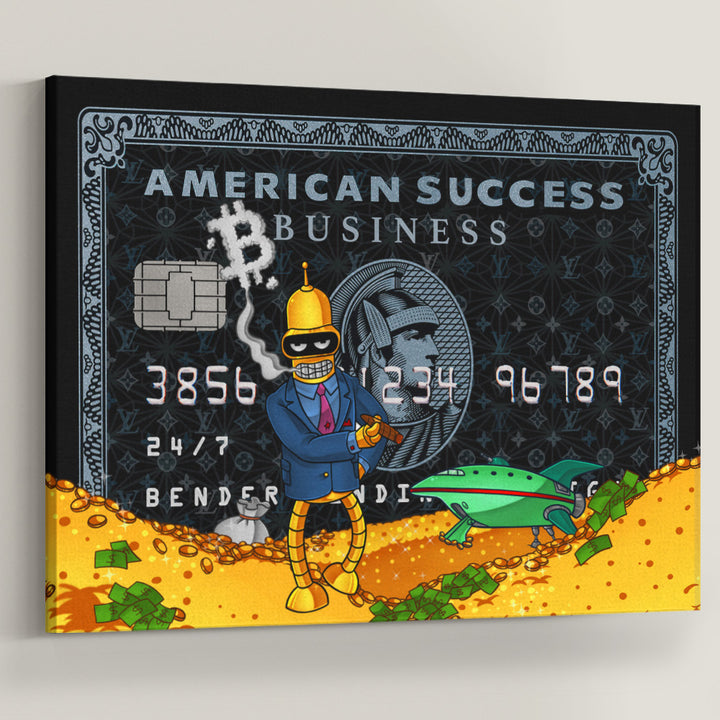 Boss Bender Success American Credit Card Simpsons wall art canvas landscape