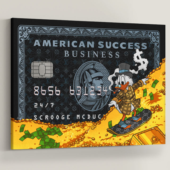 Scrooge McDuck Success American Success Credit Card