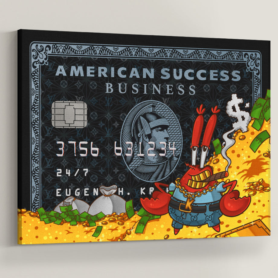 Mr Krabs American Success Business Credit Card