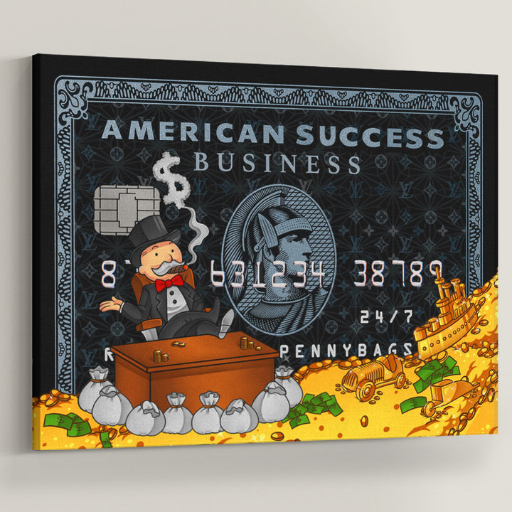 Rich Uncle Pennybags Monopoly American Success Credit Card