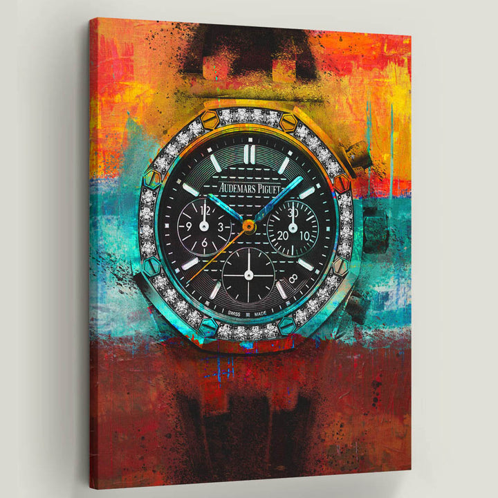 Audemars Piguet Watch Inspirational Canvas Art by Symbolic Designs