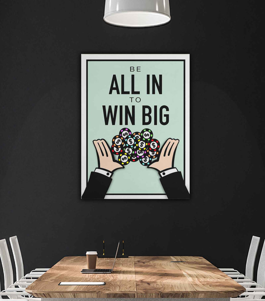 All In To Win-Canvas-Symbolic Designs - Monopoly Inspired Motivational Art