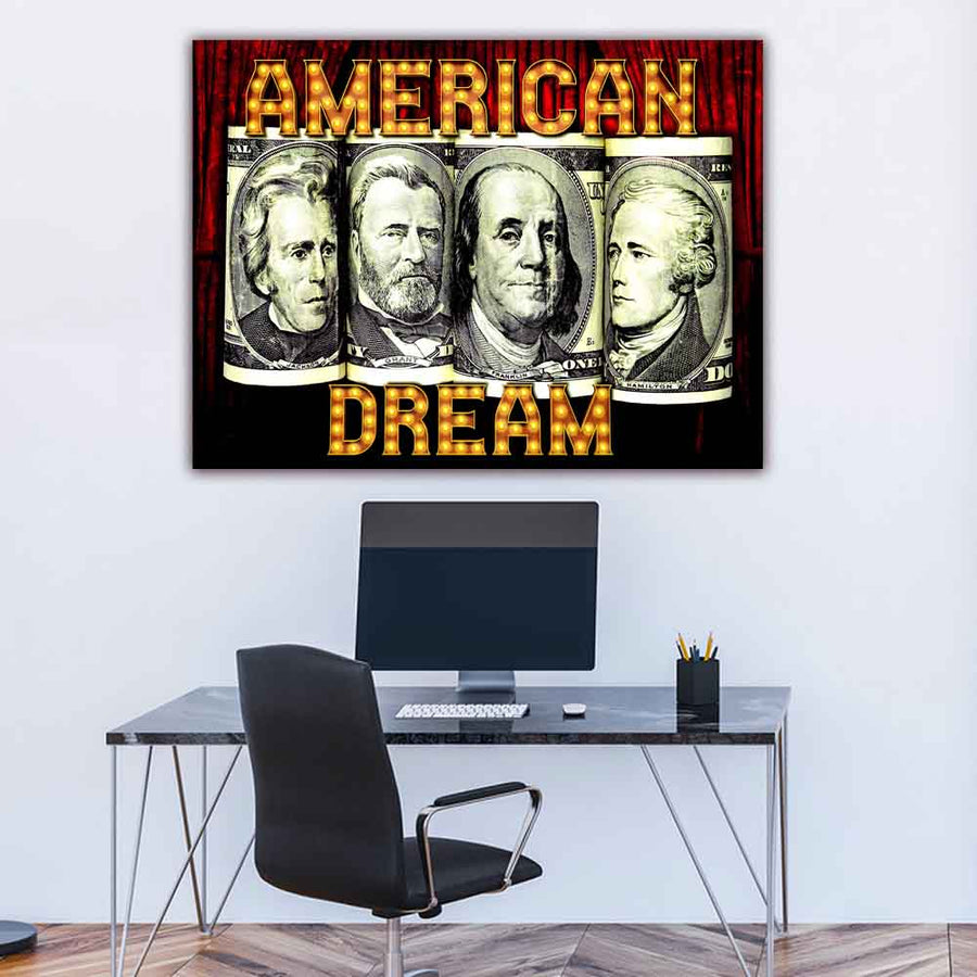 Achieving Success With Motivational Art American Dream