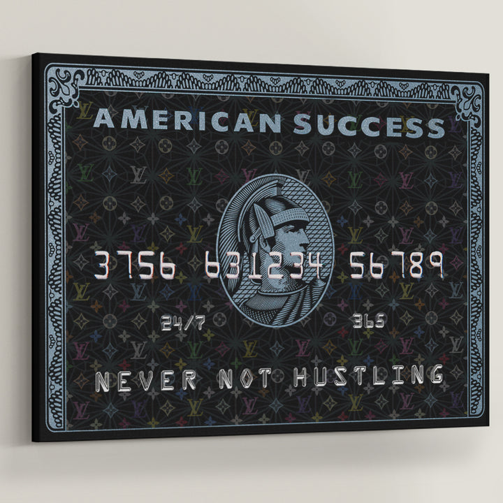 american success credit card express visa Canvas Art inspirational pop art