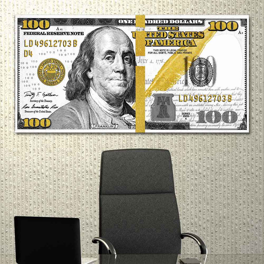 Cash Money Street Art Modern/Pop Culture Canvas Wall Art - Symbolic Designs