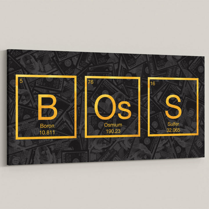 Boss Molecule Periodic Table of Elements Science Gold