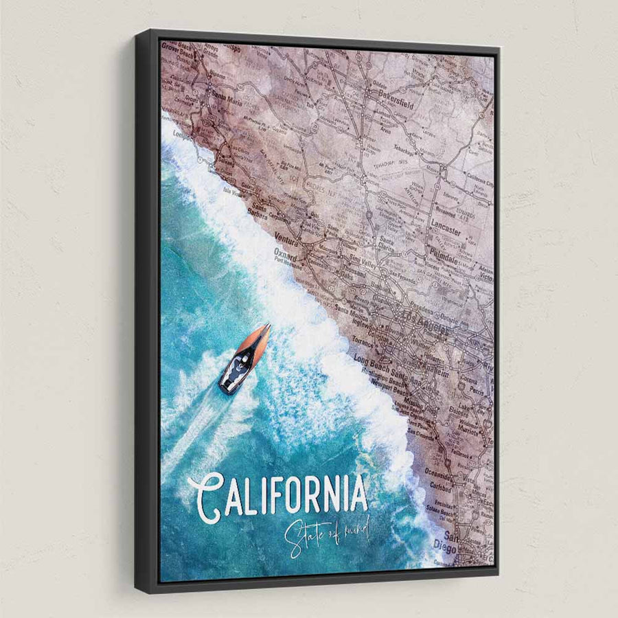 California State of Mind - Symbolic Designs Motivational Canvas Art