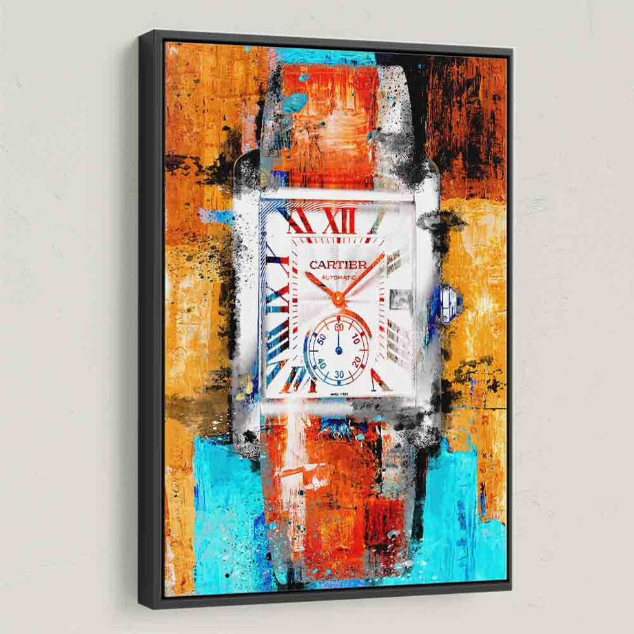 Cartier Watch Painting Wall Decor