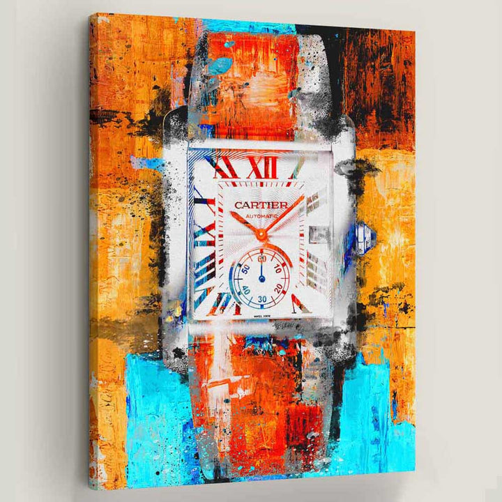 Cartier Watch Canvas Art
