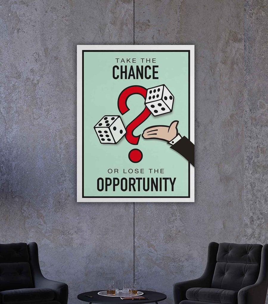 Take the Chance-Canvas-Symbolic Designs - Monopoly Inspired Game On Motivational Art
