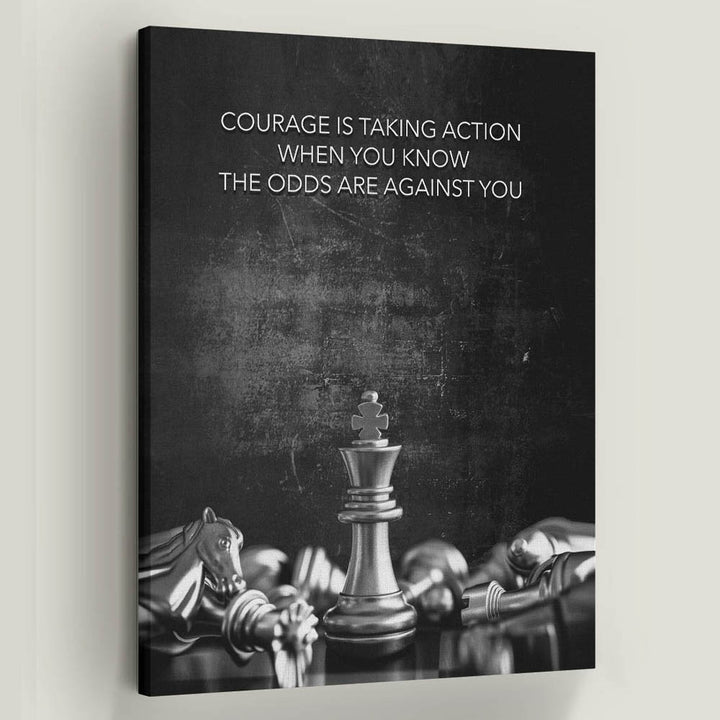 Courage Chess-Canvas-Symbolic Designs - Monopoly Inspired Game On Motivational Art