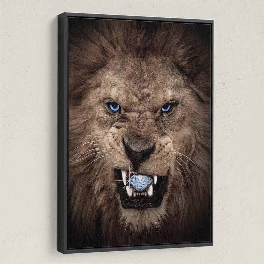 Diamond Lion Inspirational and Motivational Art that is high quality