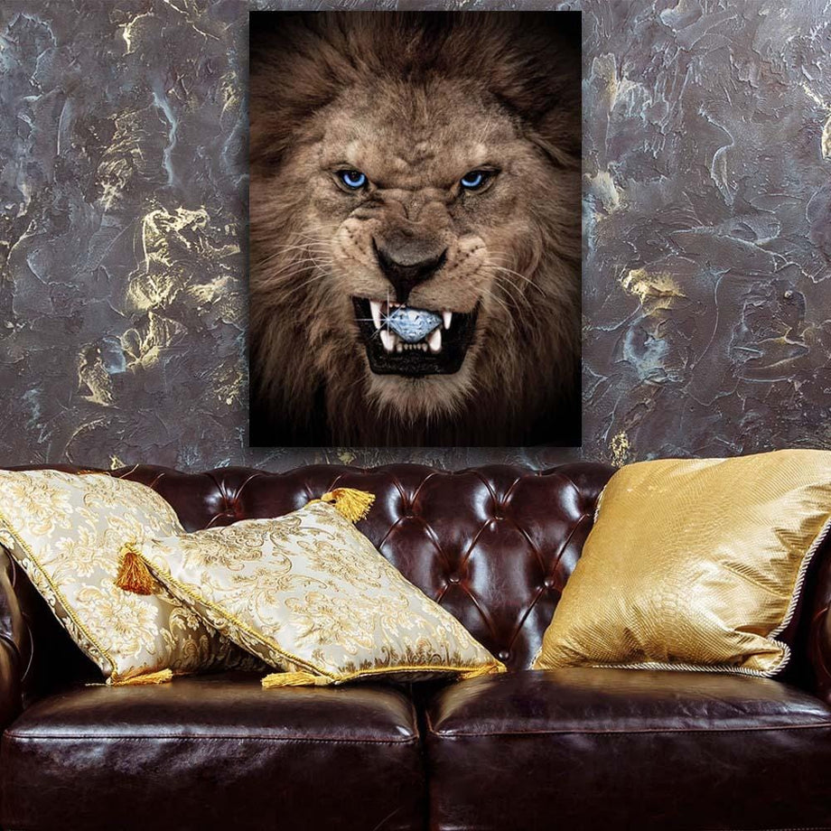 Diamond Lion Inspirational and Motivational Art that is Affordable
