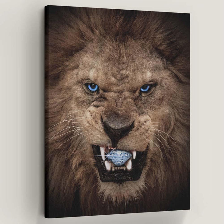Diamond Lion Inspirational and Motivational Art that is Affordable large wall art decor canvas