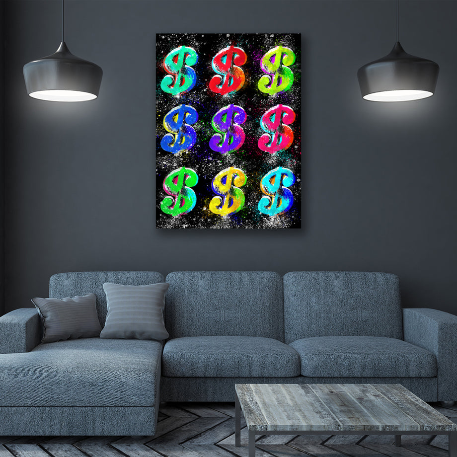 Dollar Signs Motivational and Inspirational Art