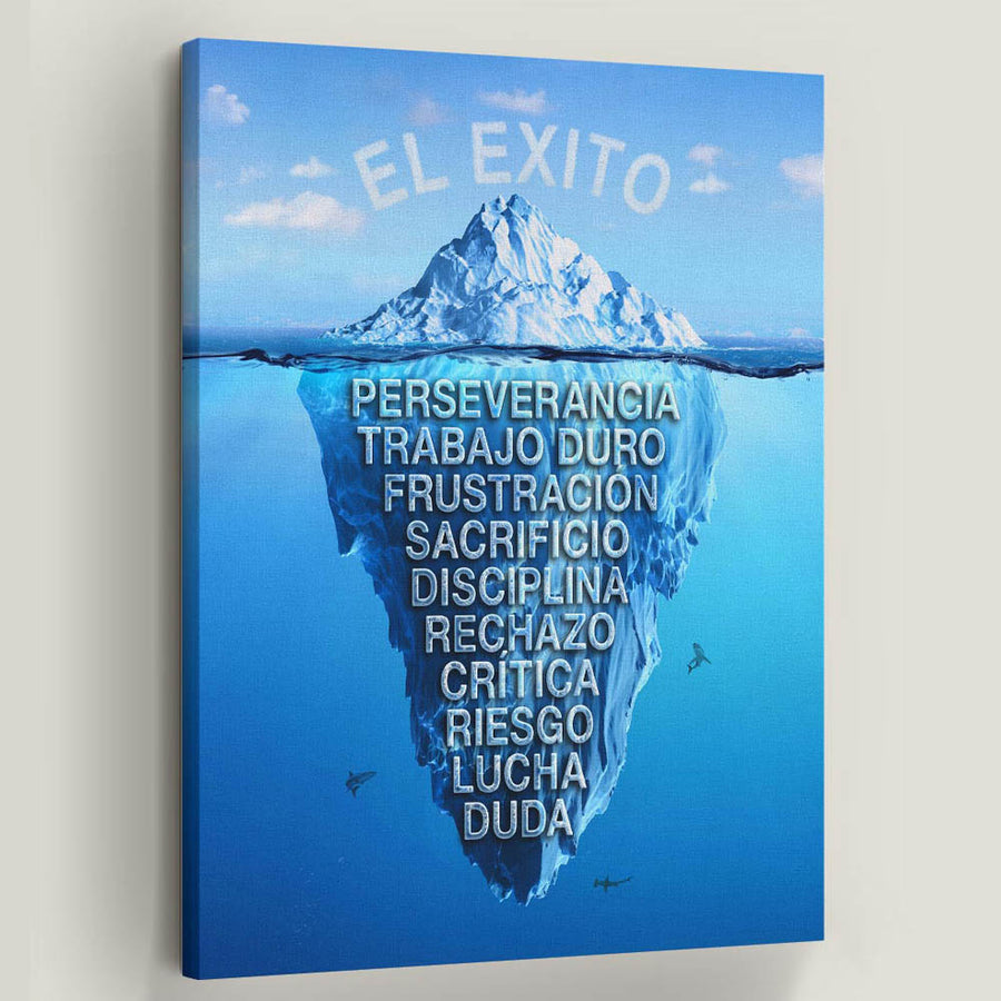 El Exito Success Iceberg Canvas Art