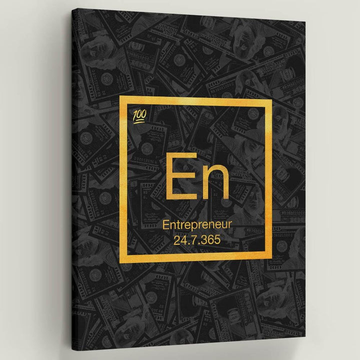 Entrepreneur Element Periodic Table Gold Science
