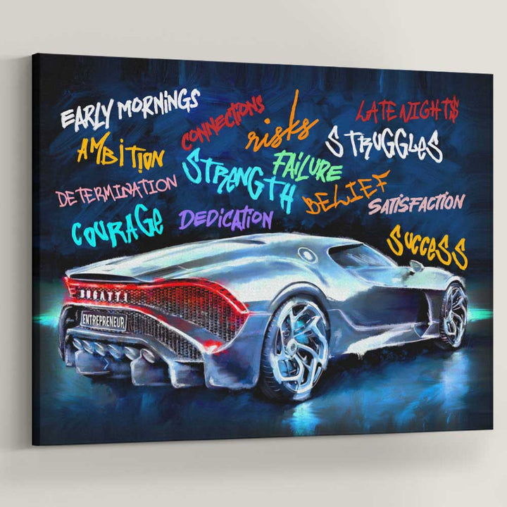 Entrepreneur Ride Sports Car Entrepreneur Canvas Art inspirational wall art for office home gym canvas prints