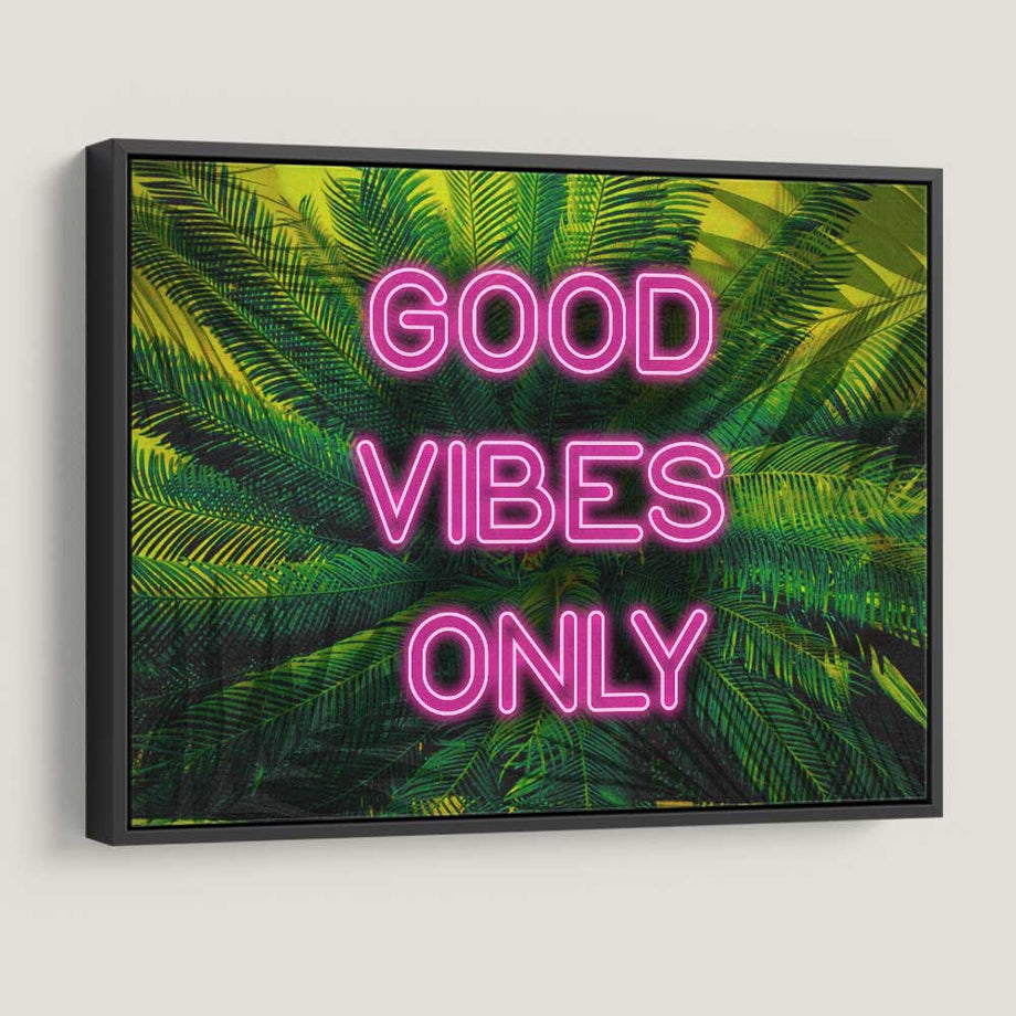 Good Vibes Only Plants Motivational Canvas Art by Symbolic Designs