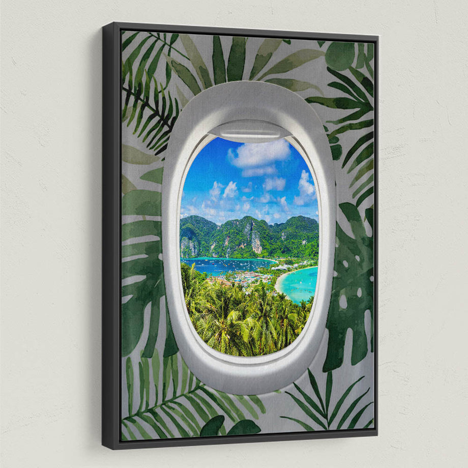Frequent Flyer View (Tropical) Inspirational and Motivational Art by Symbolic Designs